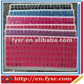 Colorido de silicona teclado del ordenador portátil cubierta/etiqueta/protector