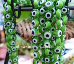 Italy beads gorgeous smart loose_bead_lampwork_glass_evil_eye_green