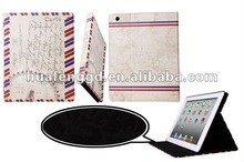 Vintage London Retro Leather Case for New iPad/iPad 3/iPad 2