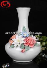 hand painted flower vases art modern