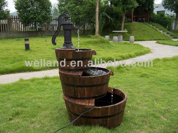Mobili lavelli fontane da giardino in legno for Fontane in legno