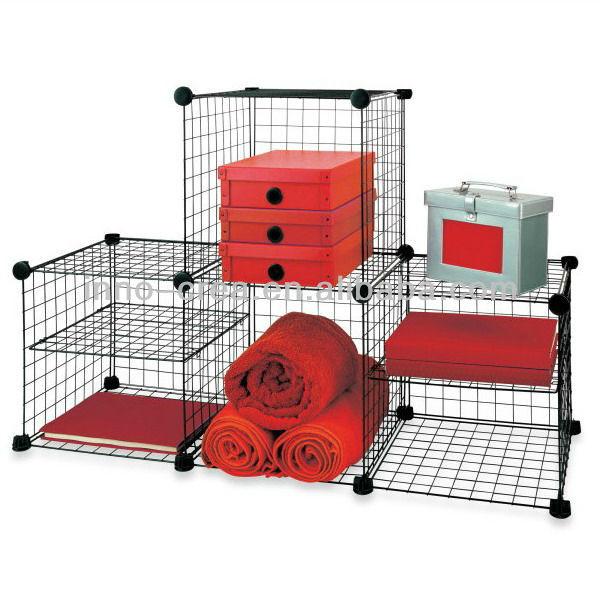 Grille fil modulaire rayonnage et de stockage cubes bo tes caisses de r - Cube metallique rangement ...
