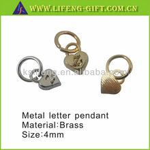 Custom Cheap Letters Small Heart Shape Charms