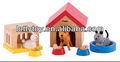 atrair crianças animal de madeira brinquedo casa