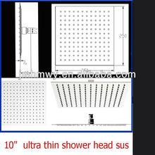 "Luxury 10"" Square polish Finish stainless steel Rain Shower Head"