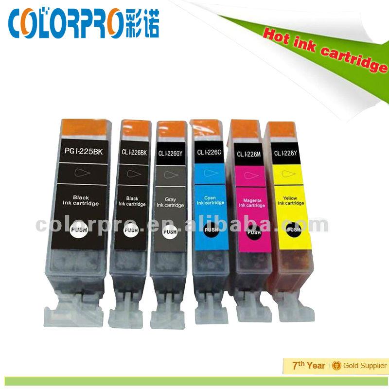 Gold printer supplies! Compatible printer cartridge PGI-225 CLI-226 for Canon printer ix6520 ip4820 mg5120 mg5220