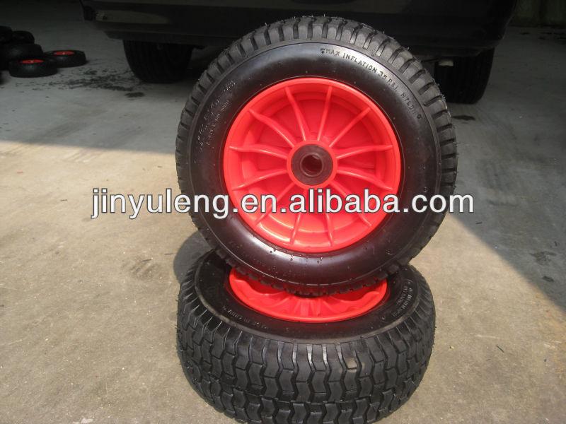 10 pouces 16 3pouce 6.50-8 4.10/3.50-4 roue en caoutchouc, roue pneumatique utilisation pour tondeuse à gazon, brouette de roue, pelouse, voiture