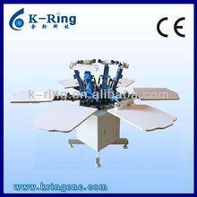 Economical manual 6 color/6 station t-shirt carousel screen printing machine KR660M