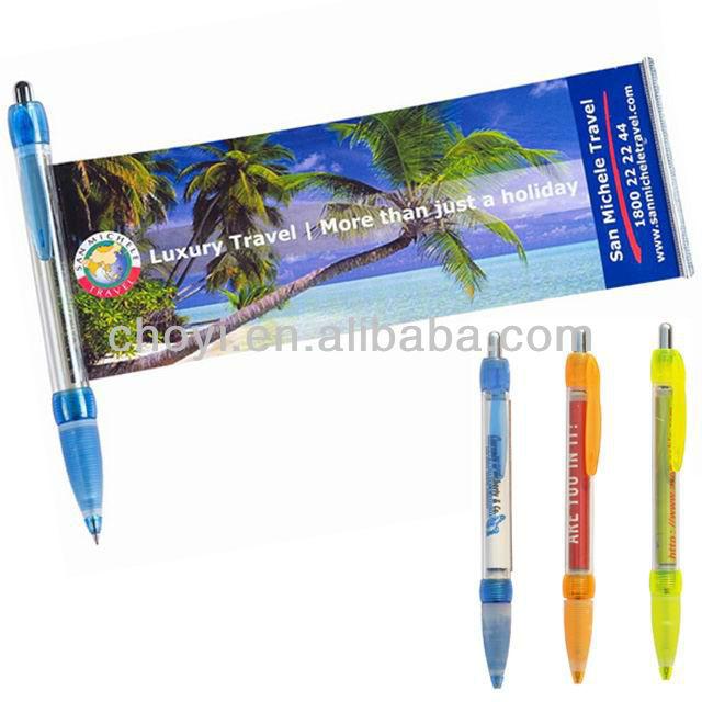 Advertising flyer pen