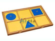 Montessori toys-Geometric Demonstration Tray