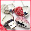 Jewellery heart style 8GB usb flash drive,Diamond usb drive 8GB