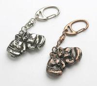 promotional metal mini boxing glove keychain