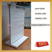 supermarket metal double side folding clothes shelf