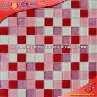 China Foshan Swimming Pool Bathroom Water Proof wall tile bajaj tiles Glass Mosaic Tiles