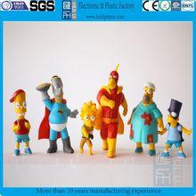 plastic toy figure/vinyl The Simpsons pvc cartoon figure/cartoon characters pvc action figure