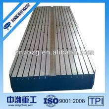 Custom Cast Iron Welding Floor Plates with Slots