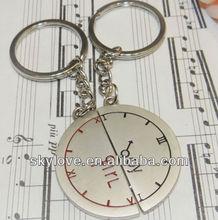 fashion clock watch keychain key chain keyring