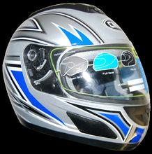 Modular Full Face Silver Motorcycle Helmet