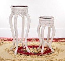 hot sell handmade white resin furniture white resin chair resin three legs table