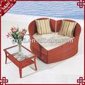 S&d Luxus handgefertigt synthetischem rattan herzform wohnmöbel sofa