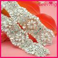 Venta al por mayor de diamantes de imitación de la perla y apliques para adorno de la boda vestido de wra-583