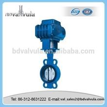 Electric butterfly valve cast iron wafer type butterfly valve
