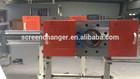 plastic melt filtration for blow film extrusion line