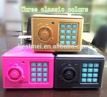 second generation plastic electric password mini money safe box for kids