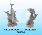 Resin dolphin aquarium product