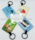 custom PVC pouch LED flashing keychain