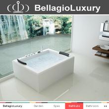 2 persons whirlpool bathtub, Luxury pure acrylic massage bathtub, Bathtub
