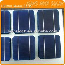 18.6% High Efficiency A Grade Solar Cells Mono Silicon 125mm*125mm