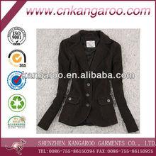 Ladies' 100% cotton corduroy pretty suit for office lady