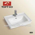 China Sanitary Ware Antique Wash Basin Sink 660