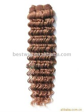 100% virgin human hair Brazilian Deep Wave Hair Extension make order