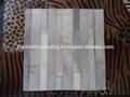 novo design do tapete de couro de cabelo em couro na cor clara