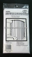 pe fancy transparent shower curtain and magnets