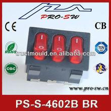 3 buttons electric light waterproof rocker switch
