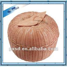 Bamboo Apple Shaped Storage Basket