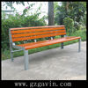 Durable wooden garden bench with mild steel brackets,wooden bench with back