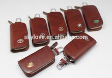 Wholesale high quanltiy men genuine leather car key fob case