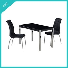 luxury black tempered glass dinner table/dining room furniture