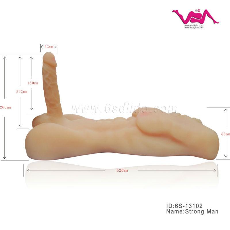 6s-13102 bambola del sesso per le femmine, realistica bambola di sesso maschile
