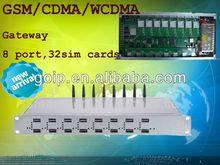 Nwe arrival!!!GSM/CDMA/WCDMA gateway 8 channels with 32 SIM gsm gateway/voip gateway open -gsm
