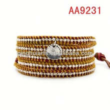 Wholesale trend supplies for leathers leather Christmas decoration China Manufacturer bracelet