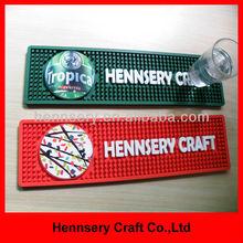 OEM logo custom cmyk printed branded bar mats
