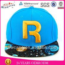 Embroidery printing brim Custom snapback hats wholesale
