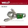 power plug macho e fêmea extensão socket