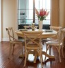 Cross back rattan seat chair,rattan dining chair,resturant chair