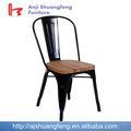 2014 mejor- venta de madera de metal del asiento de silla de comedor/silla de hierro fundido